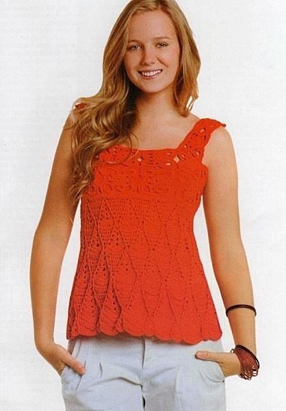Top Free Crochet Graph Pattern : Pin by Debbie Does Crochet on Crochet Womens Tops Pinterest