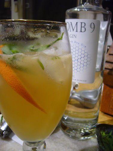 Grapefruit, Tarragon Gin Cocktail