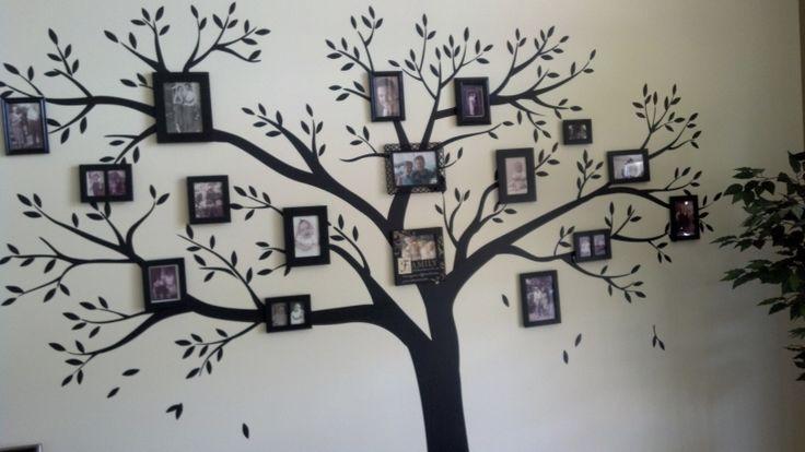 My family tree family tree wall art ideas pinterest for Family tree picture wall ideas