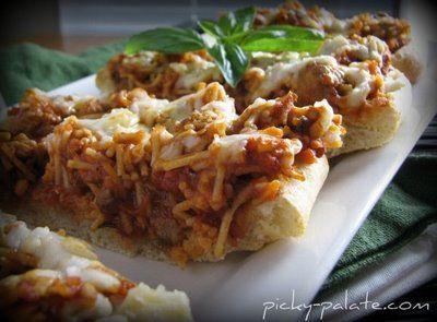 Garlic Toasted Spaghetti Bruschetta, mmmm... - Picky Palate