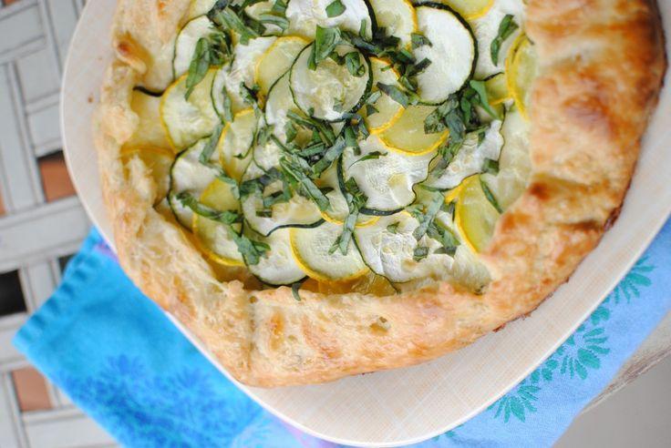 Zucchini and Ricotta Galette | Cheater Bites