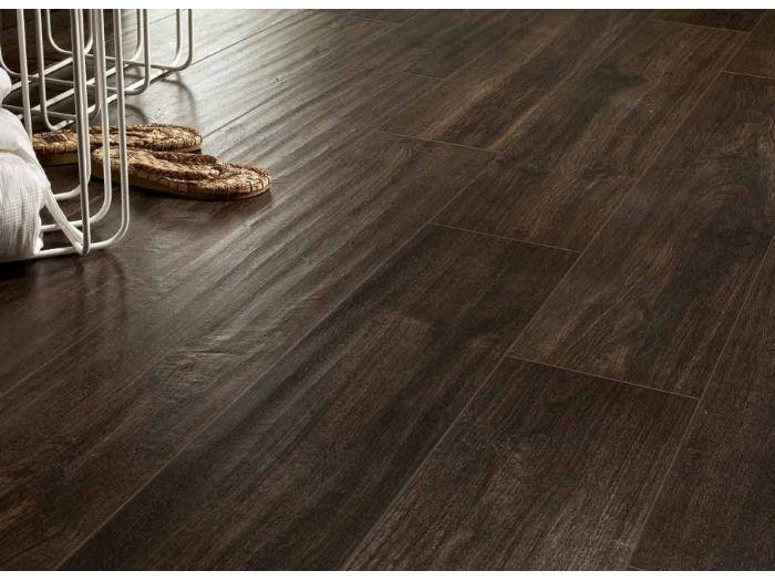 Dark ceramic floor tile