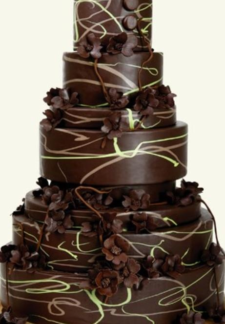 Images Of Big Chocolate Cake : Chocolate Wedding Cake