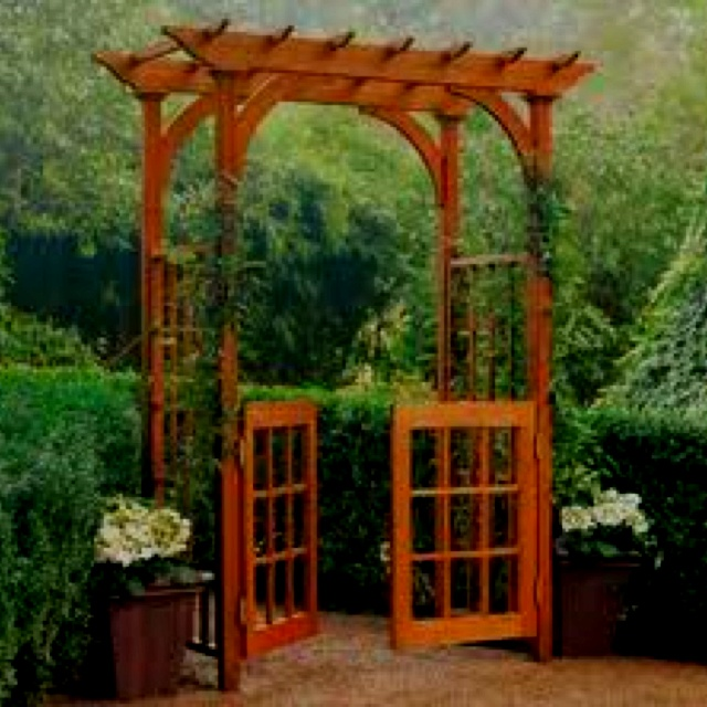 arbor with gate doors arbors pinterest