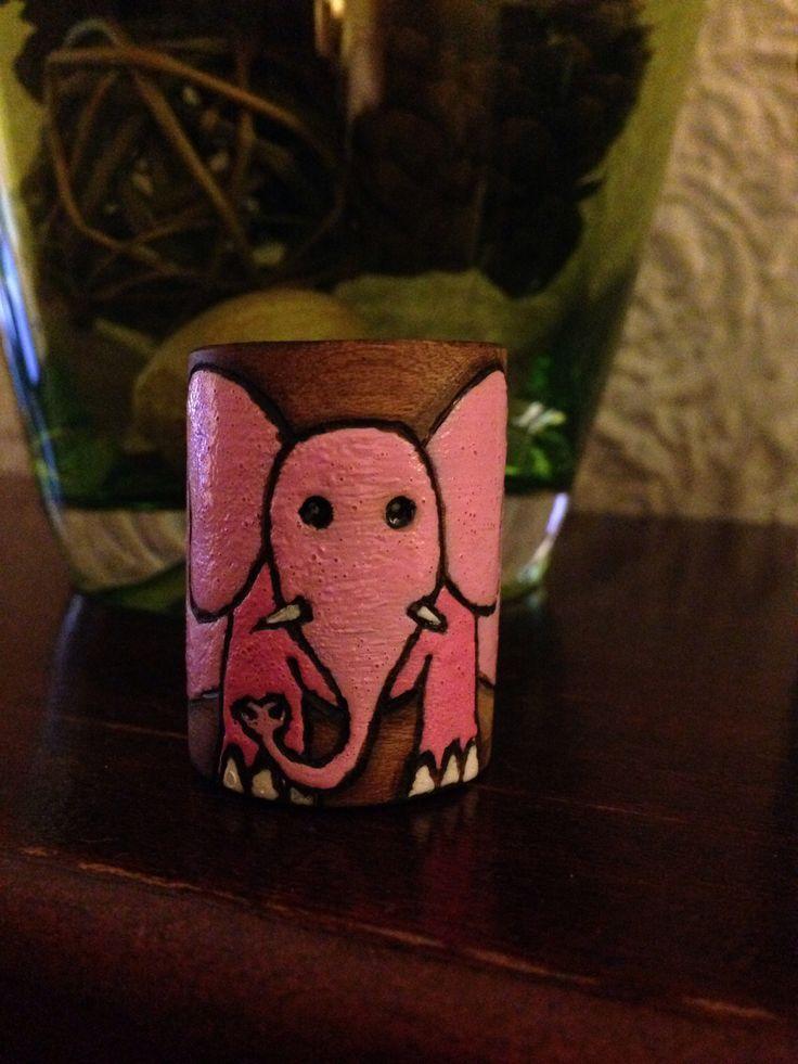 Pink elephant woggle/slide | Woggles | Pinterest