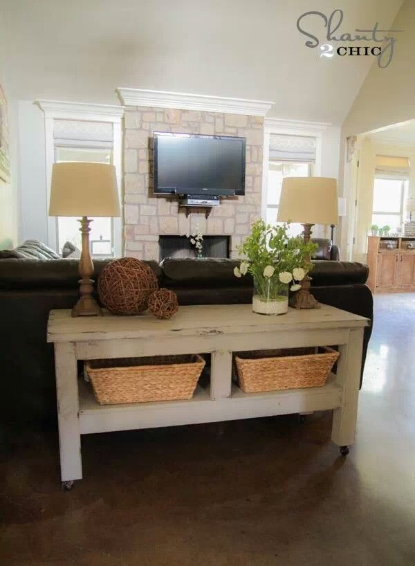 Table behind couch future home pinterest