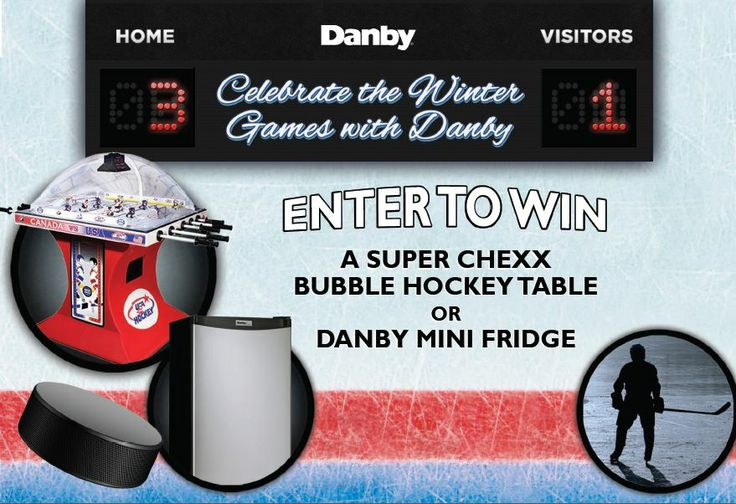 Enter Danby's Winter Games Contest and YOU could WIN a Chexx Bubble Hockey Table OR a Danby Mini Fridge!  Enter once per day for more chances to WIN!  http://on.fb.me/1j1YSoe