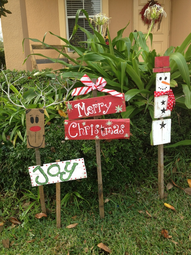 Christmas yard signs homemade pinterest for Homemade christmas yard signs