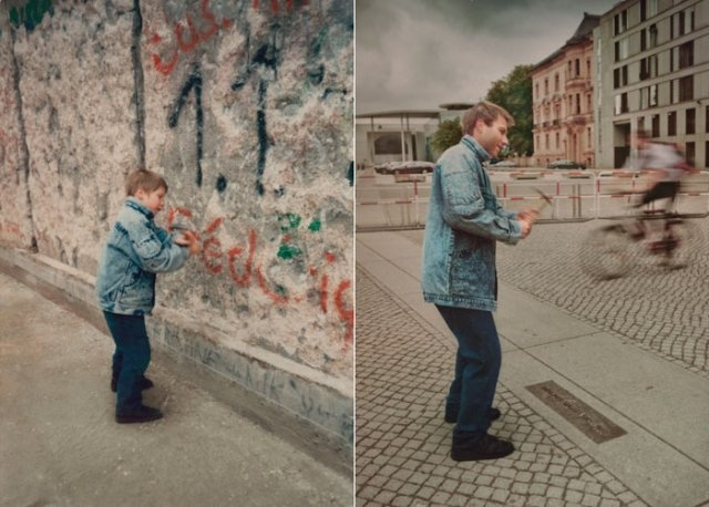 1990 and 2010, Berlin Wall