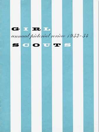 alvin lustig, girl scouts catalogue and announcements 1953-1955