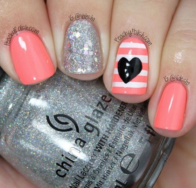 Nail Art Coral | Make Up & Nail Art | Pinterest