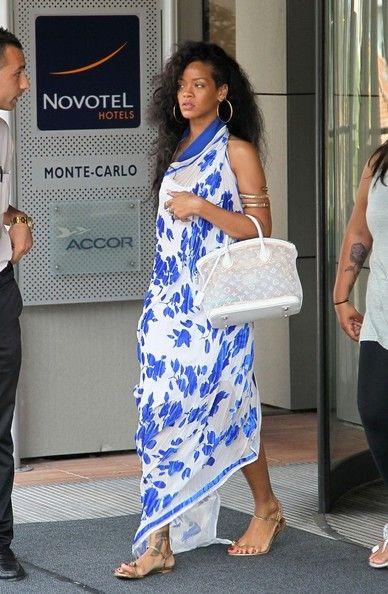 Florals, Louis Vuitton, beachy waves - Love Rihanna