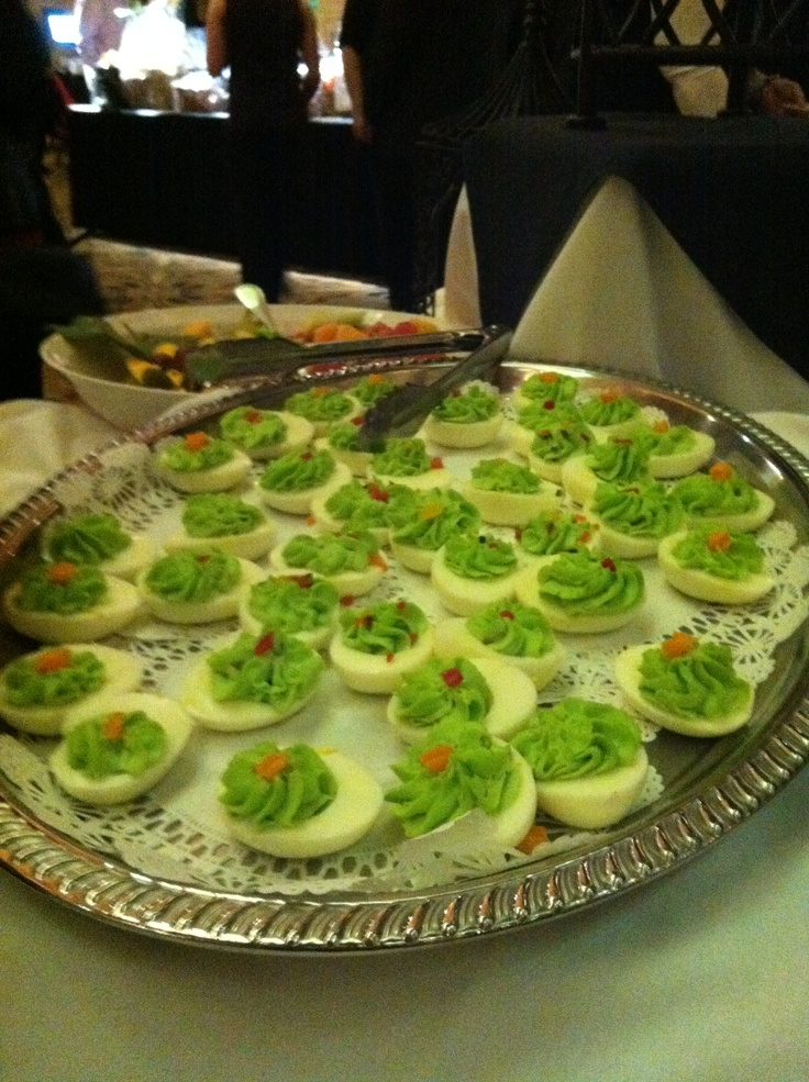 Dr. Seuss' green deviled eggs