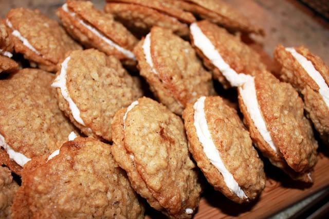 Meyer Lemon and Ginger Oatmeal Cream Pies