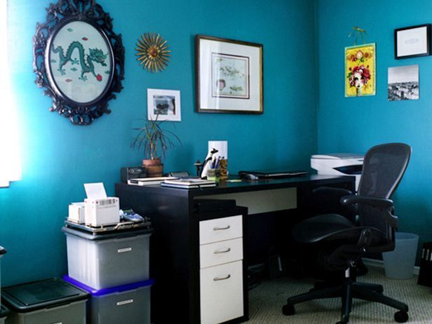 Office home decor ideas blue blue home pinterest for Office design blue