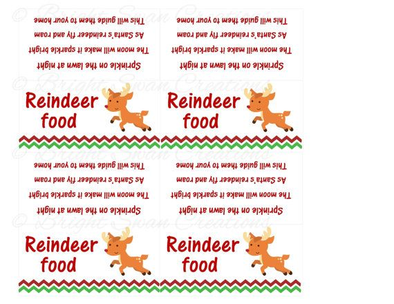- Reindeer Food - print ALL you need - DIY Printable A Reindeer ...