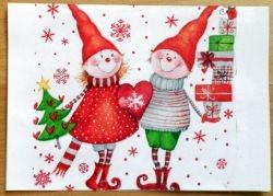 suesse weihnachtskarte wichtel weihnachten pinterest. Black Bedroom Furniture Sets. Home Design Ideas