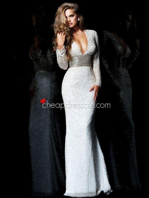 formal evening gowns with sleeves or jackets | Home > Special Occasion Dresses > Evening Dresses >Formal Long Sleeve ...
