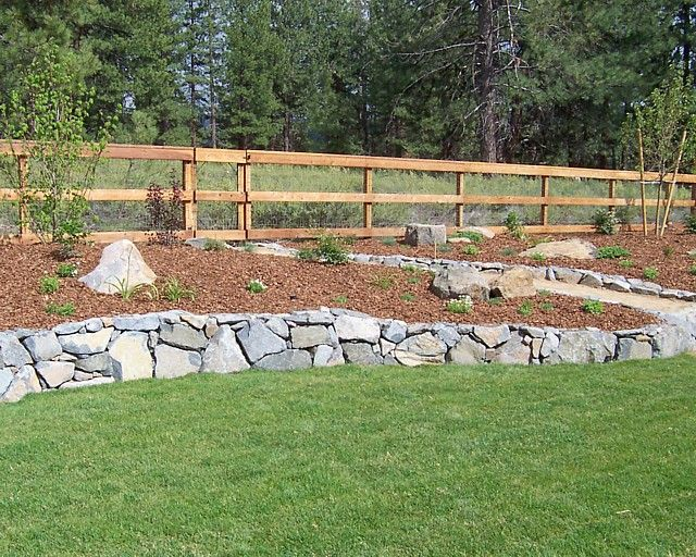 Retaining Wall Backyard Images : Retaining wall  backyard landscaping ideas  Pinterest