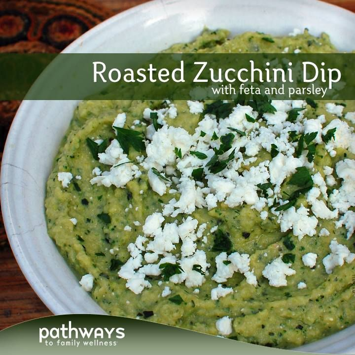 Roasted Zucchini Dip with Feta and Parsley | http://recipes ...