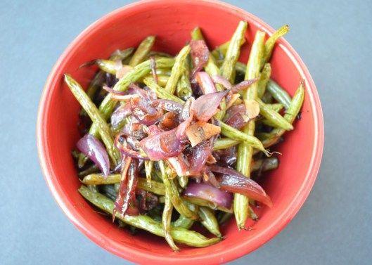 Honey-balsamic roasted green beans   Our Recipes   Pinterest