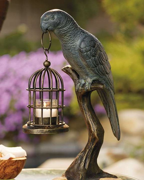 Before summer runs out, adorn an outdoor table with the Parrot Candle Holder; a fun decorative piece that brings coastal ambiance to your outdoor space.