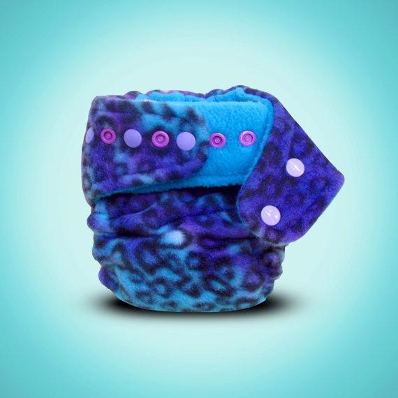 IndiGO Wild : One Size Hemp Fleece Fitted Cloth Diaper. $20.00, via Etsy.