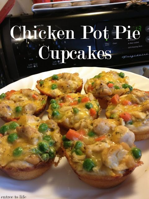 Entree To Life: Chicken Pot Pie Cupcakes! | Fall Party | Pinterest