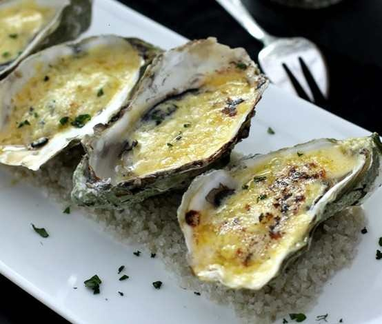 oysters black roasted cod with sea beans and oysters baked egg baked ...