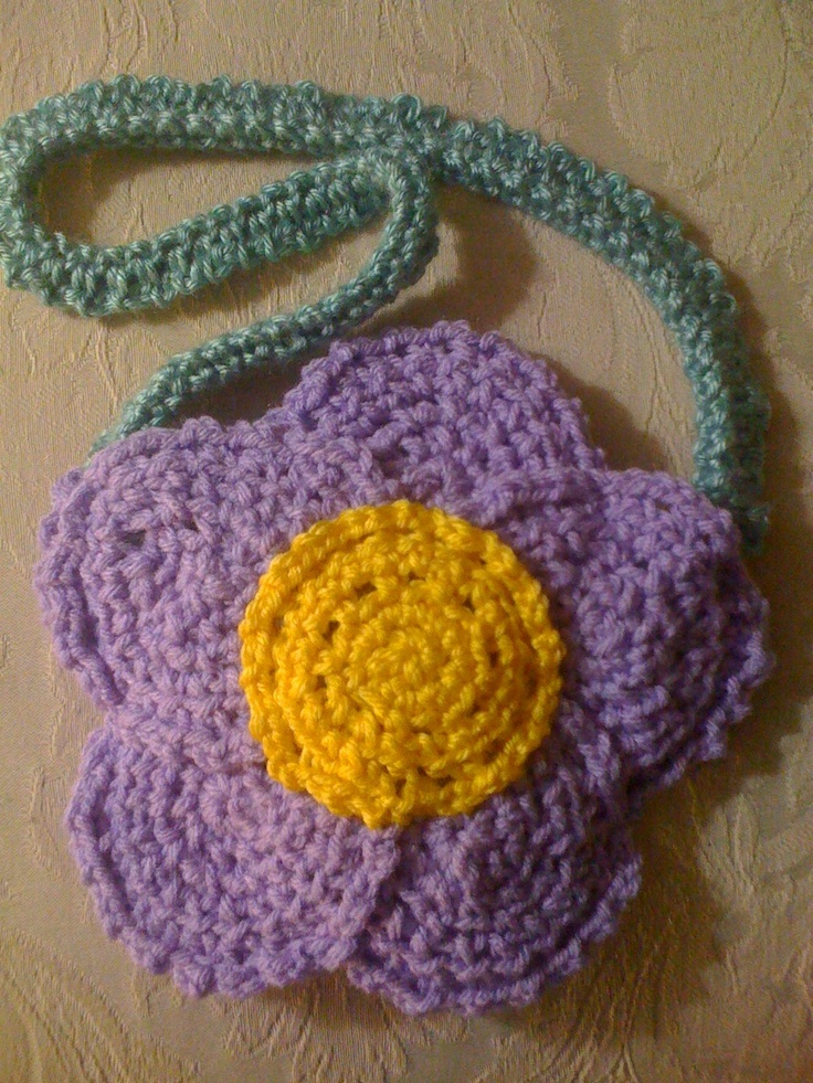 Crocheted Flower Purse for Little Girl Purses Pinterest