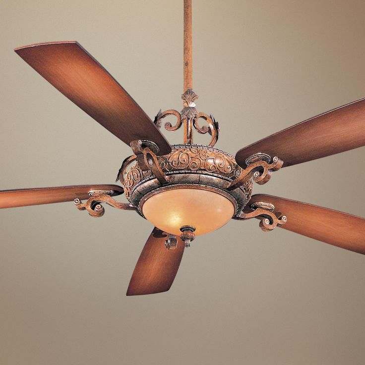 Minka Aire 52 Gauguin Tropical 4 Blade Indoor Outdoor: Tuscan Ceiling Fans With Lights
