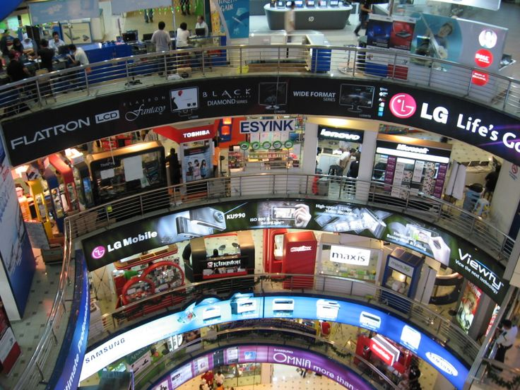 Plaza Low Yat (PLY), located in Kuala Lumpur, is Malaysia's largest IT Mall specializing in electronics and IT products. Haggling for prices is the norm at PLY, and there are 7 floors with a variety of products on each floor.