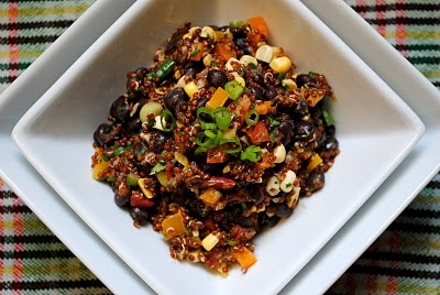 Red Quinoa and Black Bean Salad | Deliciousness // yum!! | Pinterest