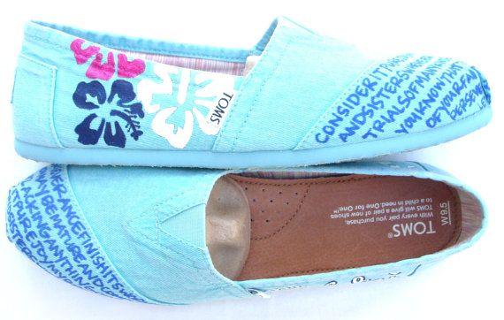 Summer Custom TOMS Shoes www.fruitfulfeet.com