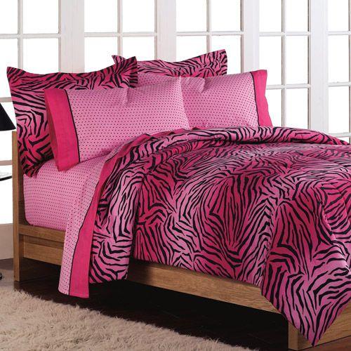 pink zebra bedding set bedroom ideas pinterest