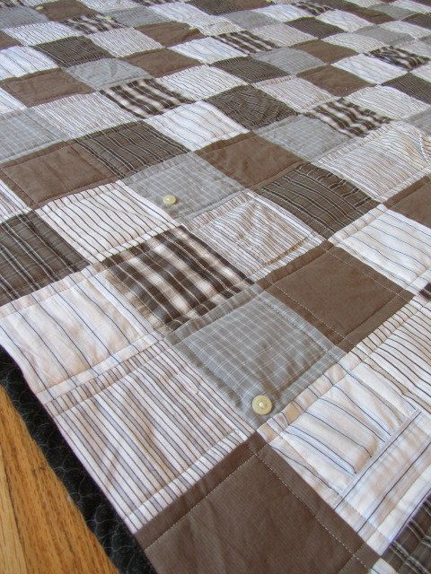 v neck t shirt quilt from men shirts  Glorious Quilts