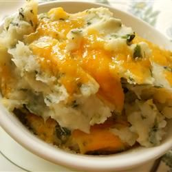 Sally's Spinach Mashed Potatoes - Use fresh wilted spinach, toss a few ...
