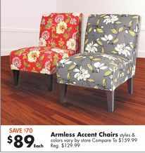 Best Armless Accent Chairs From Big Lots Great Home Ideas 400 x 300