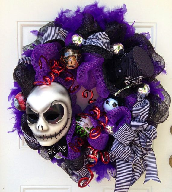 Nightmare Before Christmas Wreath with Jack Skellington