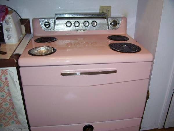 vintage pink white westinghouse stove vintage kitchens