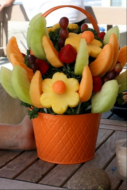 Fruit Flower Basket Color Inspiration Pinterest