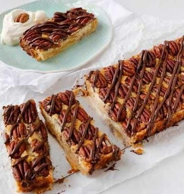 Pecan Pie Tart with Praline Cream is perfect for brunches, showers, or ...
