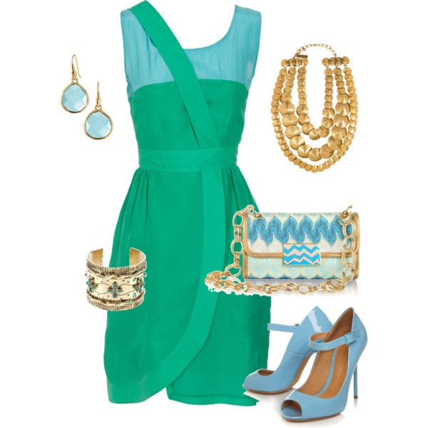 Blue and Aqua Summer Outfit, created by janetkhall on Polyvore