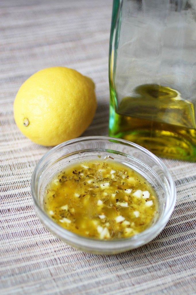 Greek Salad Dressing: 1 Lemon, juiced ~ 1/4 cup Extra Virgin Olive Oil ...
