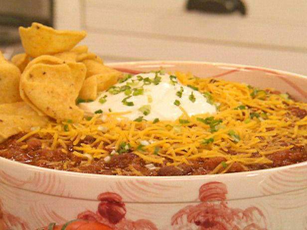 Jamie Deen's chili. I use his recipe with some extra spices. Always a ...