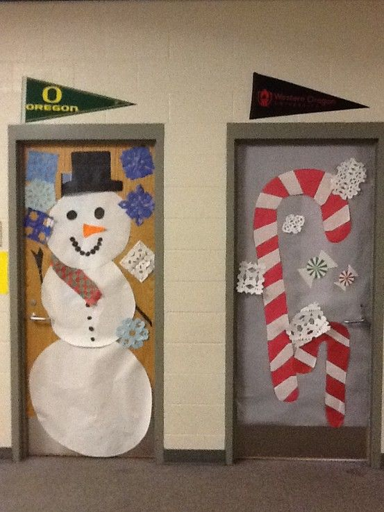 Christmas door decorations | College | Pinterest