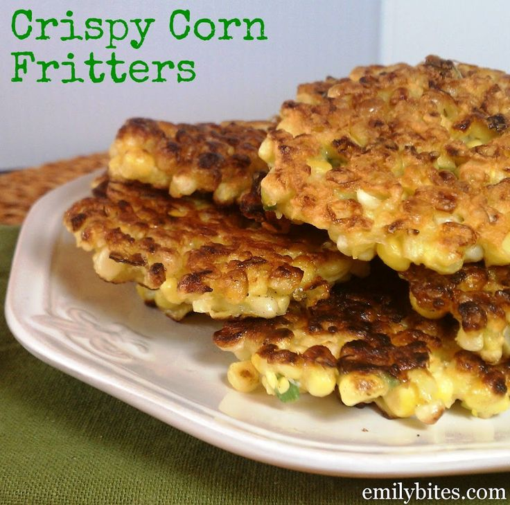 crispy corn fritters 2 ww points per serving sub cornmeal for white ...