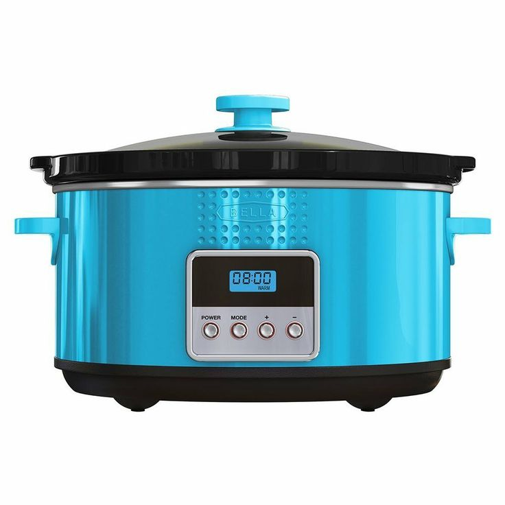 BELLA Programmable Slow Cooker 5 Quart Teal $28 95 OUT THE DOOR! PICK