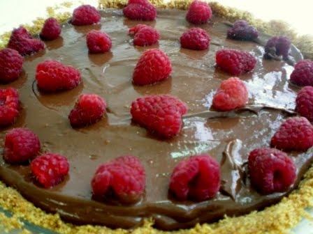 No-Bake Chocolate-Raspberry Mousse Pie | Cass McNally | Pinterest