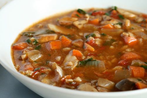 Mushroom And Farro Soup Recipe — Dishmaps